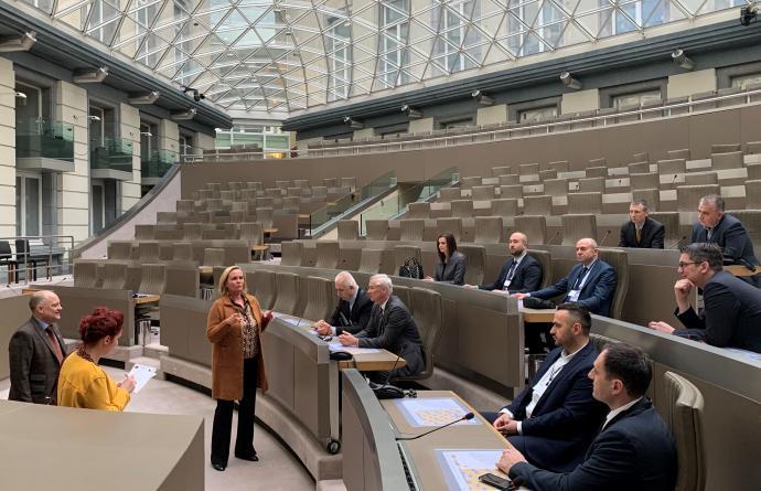Bosnische delegatie Koepelzaal