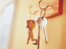 sleutels aan haakje